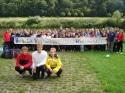 Beginn der Kinderwanderfahrt auf der Weser 2006 in Vaake mit den (Vize-)Weltmeistern Lutz Ackermann, Jan Tebrügge und Peter Puppe.