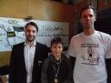 Siegerehrung für  Rasmus Pipa (Jungen Jg. 2005) durch ORV-Vorstandsmitglied Henning Winkelmann und LRVN Vorstandsmitglied Markus Strunk.