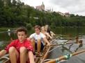 Caro-Ruderer im Sommer 2015 auf dem Neckar in Bad Wimpfen.