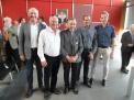 Einige Protektorenkollegen gratulierten zu der  verdienten Auszeichnung: Peter Tholl (Gymnasium Carolinum Osnabrück), Werner Niemeyer (Schillerschule Hannover) Willi Monecke, Michael Denneberg (Greselius-Gymnasium Bramsche) und Gunther Sack (Humboldtschul