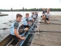 Der dritte WKII-Jungenvierer belegte auf der Kurzstrecke den zweiten Platz hinter der Crew vom Max-Windmüller-Gymnasium Emden.