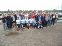 Die WKIII-Jungen mit den Fans nach dem überlegen gewonnenen Rennen.