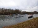 Schulassistent Jens Frickenhelm machte Fotos vom gegenüber liegenden Ufer.