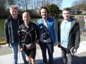 Jacob Alschner, Mathias Kötter,  Philipp Hülsmann (Fotos) und Malte Goltsche am Bootshaus.