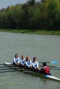 Die WKIII-Mädchen auf dem Weg zum Start.