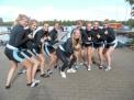 """Der """"Caro-Mädchen8er""""  gewann die Generalprobe vor dem Achter-Cup-Rennen deutlich vor den Teams vom Herdergymnasium Minden, von der Bismarckschule Hannover und von der Humboldtschule Hannover."""