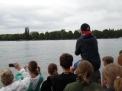 Deutliche Führung für den ersten WKIII-Jungenvierer im Rennboot.