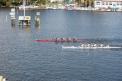 Die WKIII-Jungen  unmittelbar vor dem Ziel knapp hinter dem Team aus Berlin.