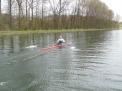 Paul Seiters auf dem Kanal.