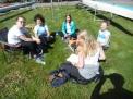 Entspannung für die WKIV-Mädchen zwischen den Rennen.