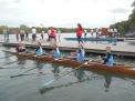 Die 12-jährigen Mädchen starteten erstmals im Renn-Doppelvierer.