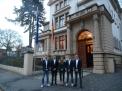Der Caro-Vierer vor dem Gästehaus der Niedersächsischen Landesregierung.