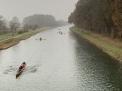 Auf dem Kanal zwischen Hollager Schleuse und Ausweiche.