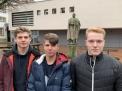 Sie erfüllten die Bedingungen für ein Goldenes Fahrtenabzeichen: Johannes Seiters, Marwin Hörnschemeyer und Felix Johannsmann.
