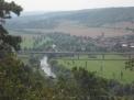 Das Tal der Unstrut zwischen Freyburg und Naumburg.
