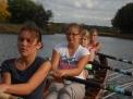Die Mädchen des Jahrganges 2001 beim Training: Elisa Saks,  Alexandra Wenzel, Rahel Gottschalk und  Sophia Steuernagel.